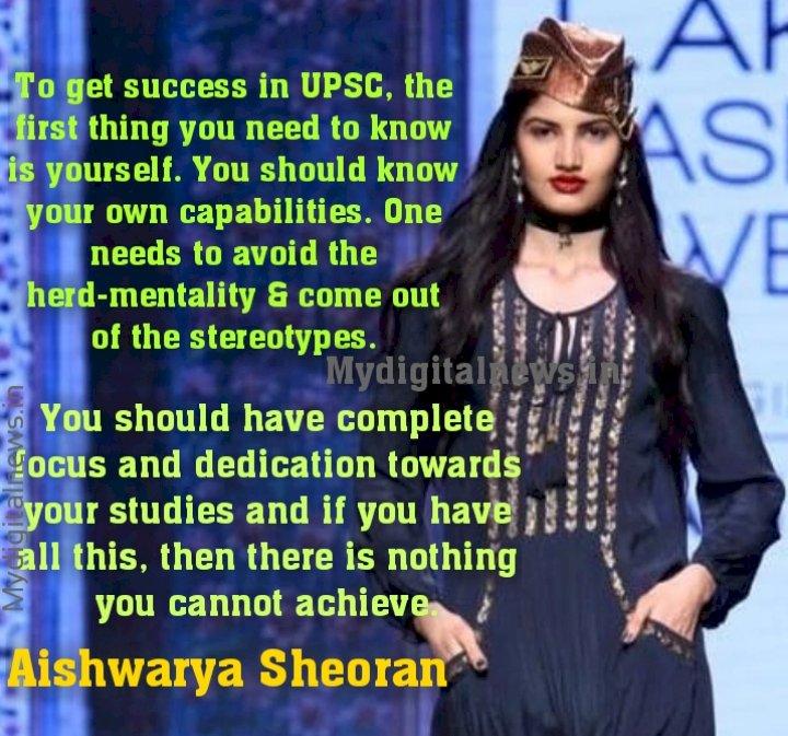 The Aishwarya Sheoran – Miss India finalist who cracked UPSC Civil Services - 93,