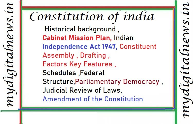 CONSTITUTION OF INDIA expalined in simple eassy model