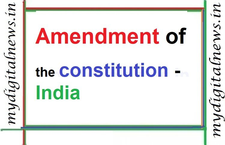 Amendment of the constitution
