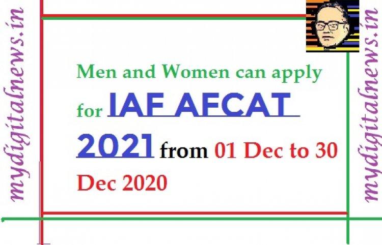 Apply for IAF AFCAT 2021