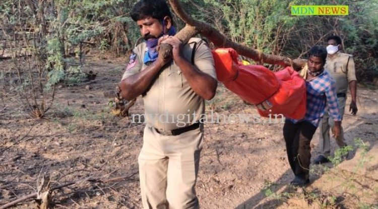 AP DGP laud COP, who carried unclaimed b(Orphaned Beggar) Body on his shoulders for 2 KM from Deep forest to Govt Hospital