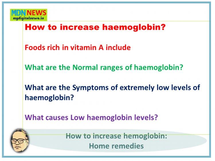 How to increase haemoglobin at home Naturally?