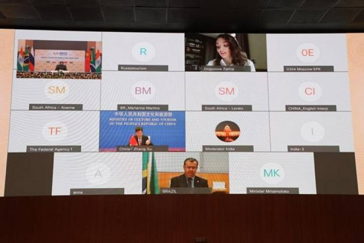 Who chairs the BRICS Tourism Ministers' meeting today .i.e july 2021?