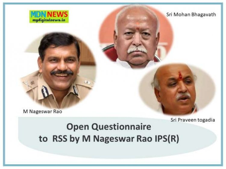 Sensational Open Questionnaire to RSS by M Nageswar Rao IPS(R)